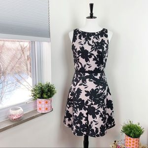Taylor | Floral Scuba Fit and Flare A-Line Dress